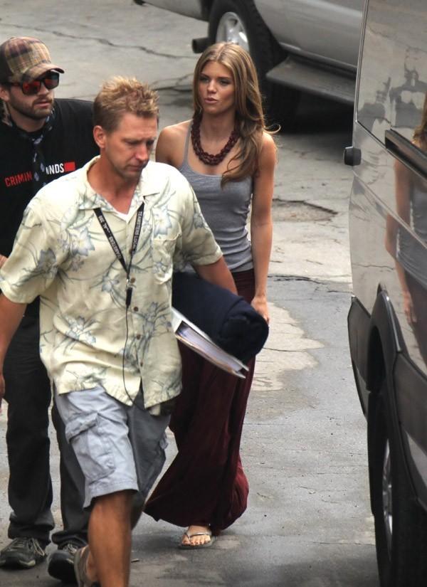 AnnaLynne McCord sur le tournage de 90210 à Los Angeles le 12 octobre 2012