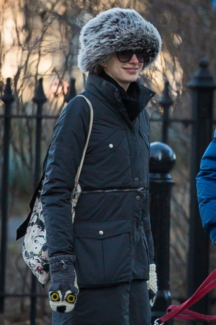 Anne Hathaway, New York, 28 décembre 2012.