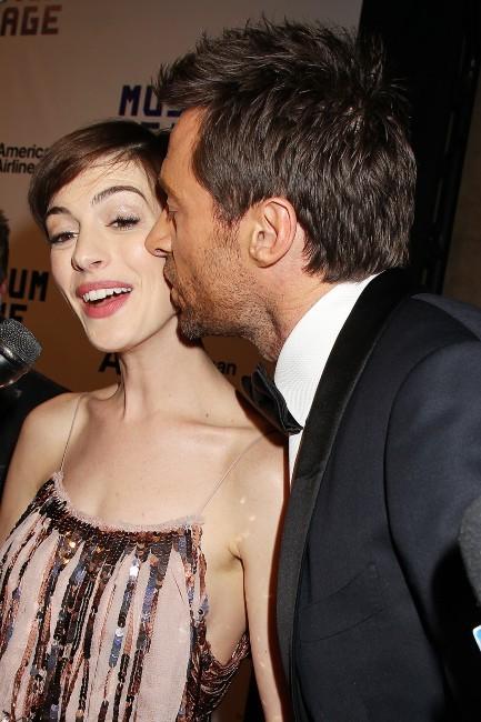 Anne Hathaway et Hugh Jackman le 11 décembre 2012 à New York