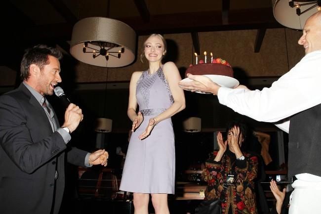 Hugh Jackman et Amanda Seyfried à New York, le 2 décembre 2012.