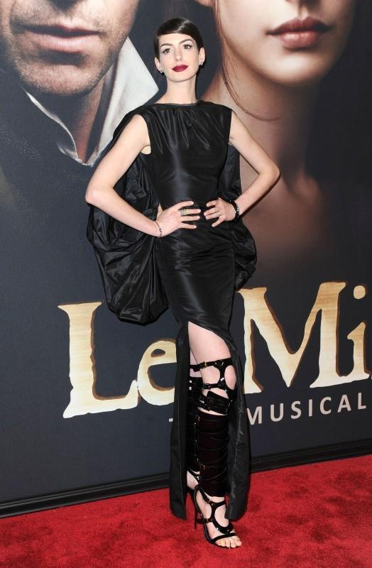 Anne Hathaway le 10 décembre 2012 à New York
