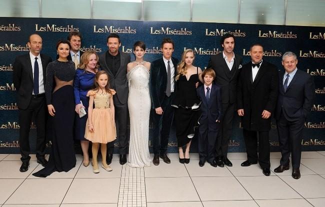 """Casting du film """" Les Misérables"""" à Londres, le 5 décembre 2012."""