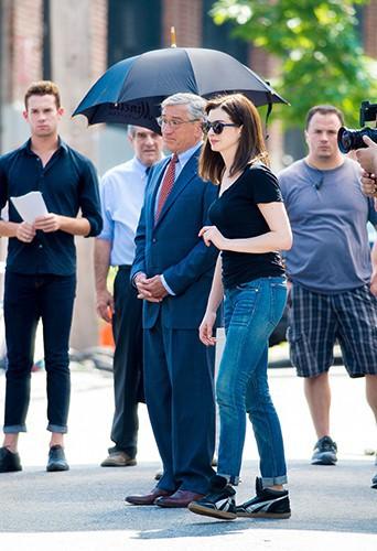 Robert de Niro et Anne Hathaway à New York le 26 août 2014