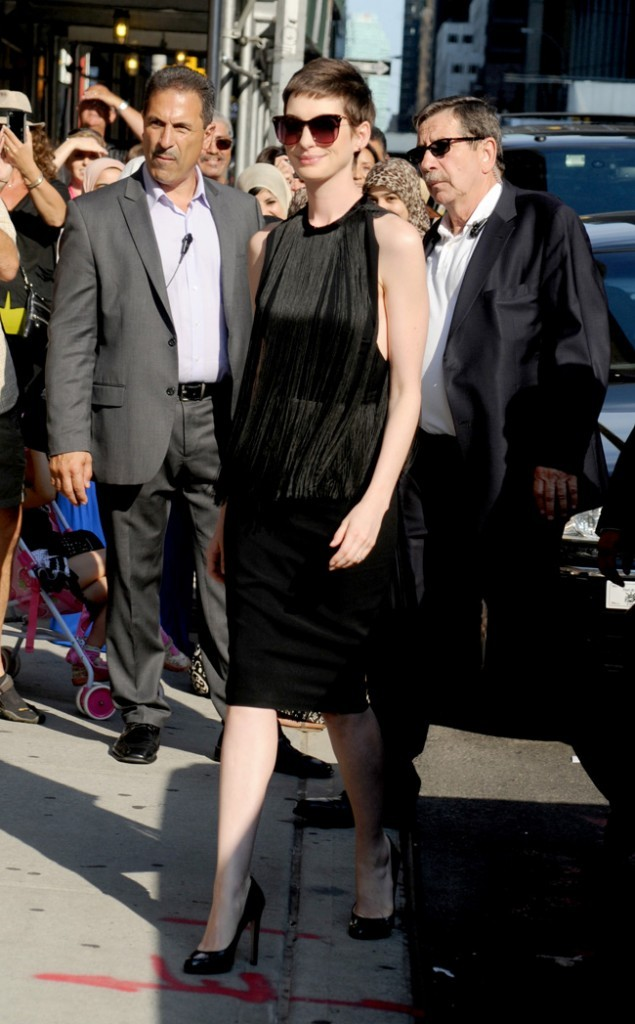 Anne Hathaway le 11 juillet 2012 à New York