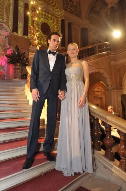Anthony Delon et Anna Sherbinina le 19 janvier 2013 à Brno, en République Tchèque