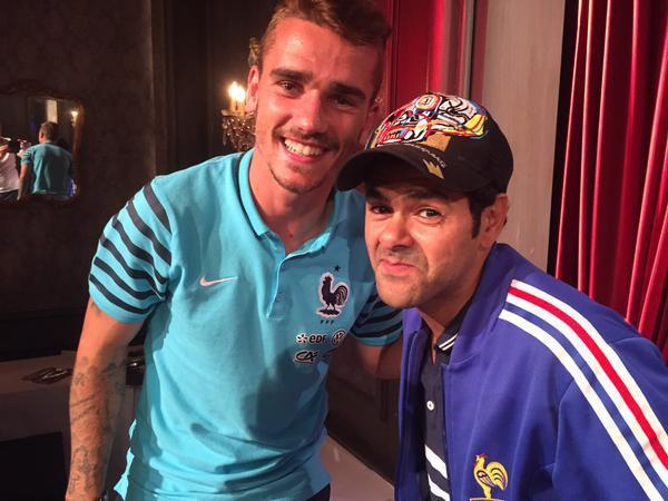 Antoine Griezmann et Jamel Debbouze