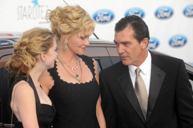 Antonio Banderas et Melanie Griffith avec leur fille Stella lors du Starlite gala à Marbella, le 4 août 2012.