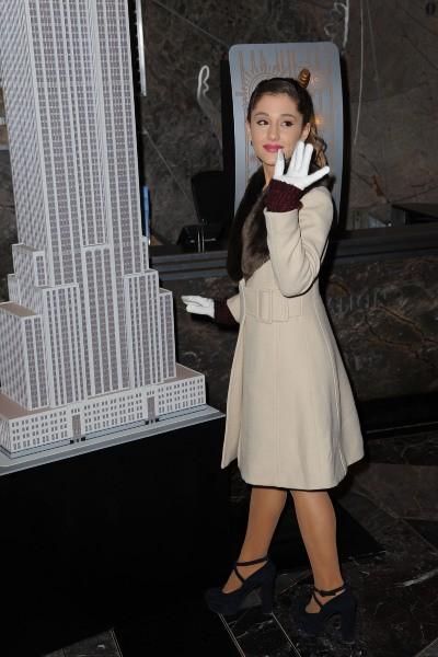 Ariana Grande à New York, le 25 novembre 2013.