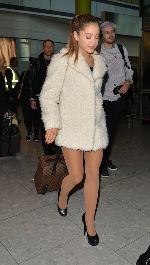 Ariana Grande à Londres, le 7 octobre 2014