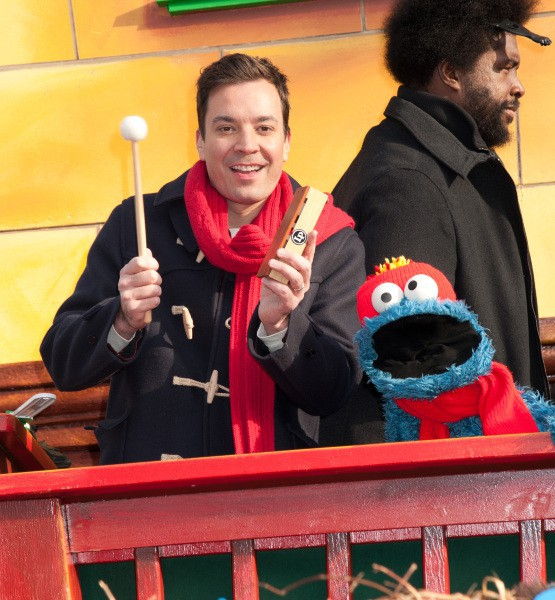 Jimmy Fallon a la parade de Thanksgiving, à New York le 28 novembre 2013