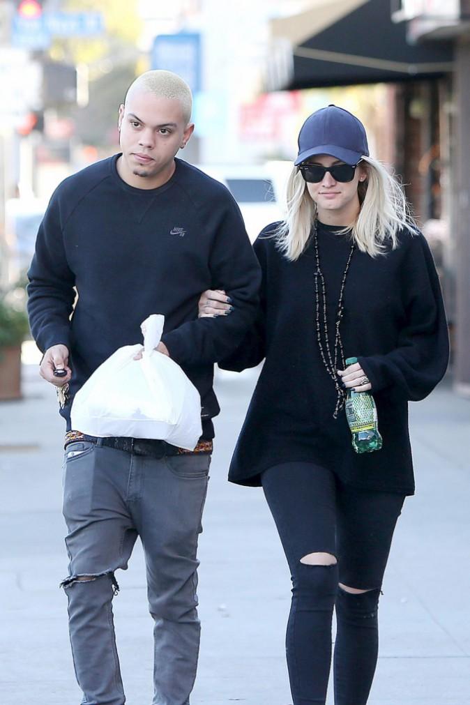 Evan Ross et Ashlee Simpson le 6 janvier 2015
