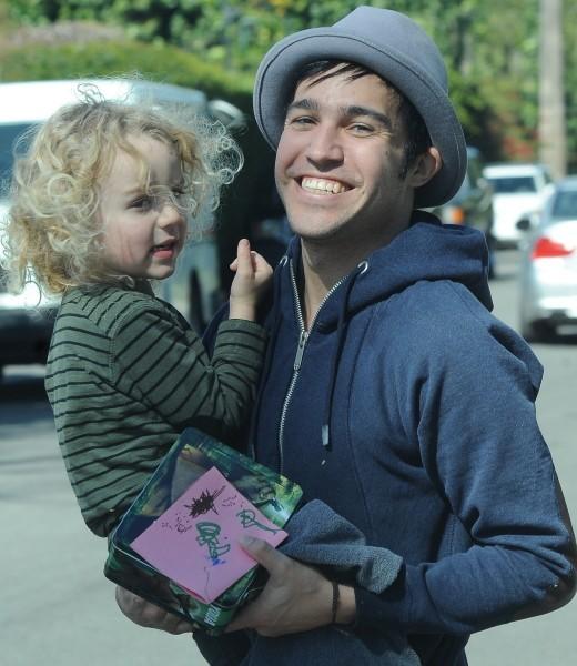 Pete Wentz et son fils Bronx Mowgli