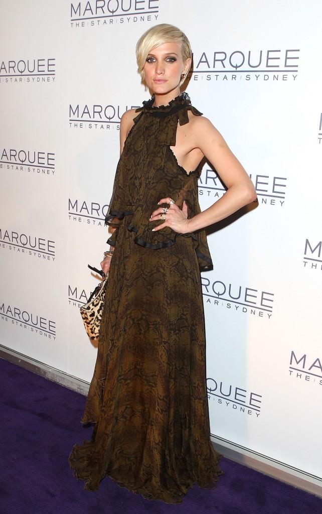 Ashlee Simpson lors de la soirée d'inauguration du Marquee Nightclub à Sydney, le 29 mars 2012.