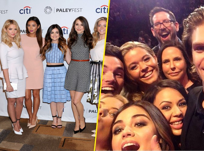 Le casting de la série The Pretty Little Liars lors du PaleyFest à Los Angeles, le 16 mars 2014.
