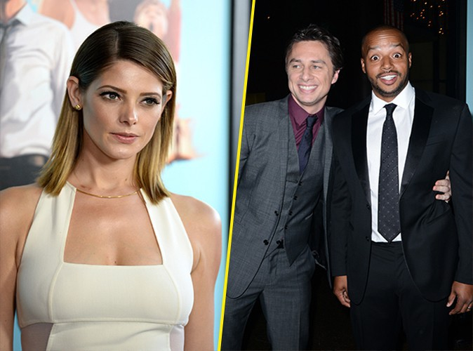 Ashley Greene, Zach Braff et Donald Faison à Los Angeles le 23 juin 2014