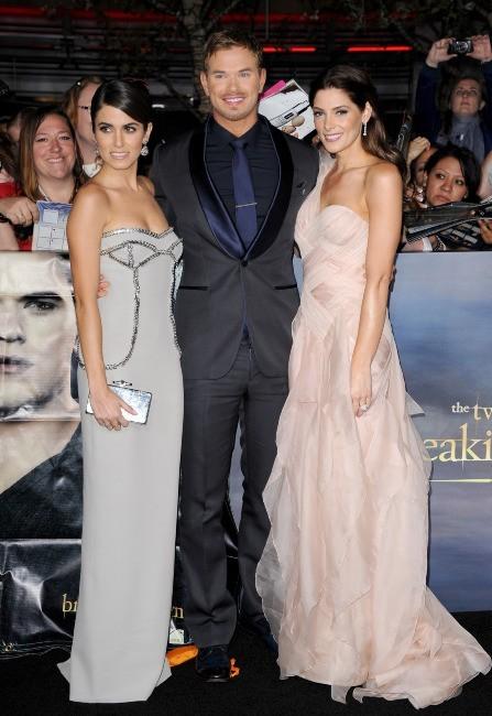 """Nikki Reed, Kellan Lutz et Ashley Greene lors de la première du dernier volet de """"Twilight"""" à Los Angeles, le 12 novembre 2012."""