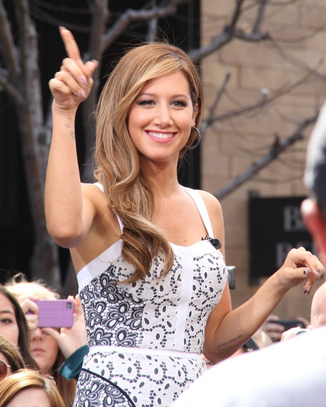Ashley Tisdale en promo à Los Angeles, le 2 avril 2013.