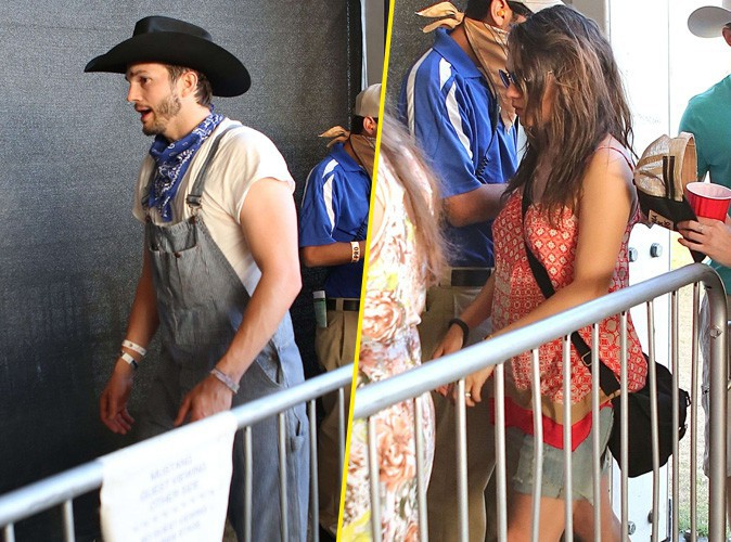 Ashton Kutcher et Mila Kunis : duo hippie et country au Stagecoach Music Festival !