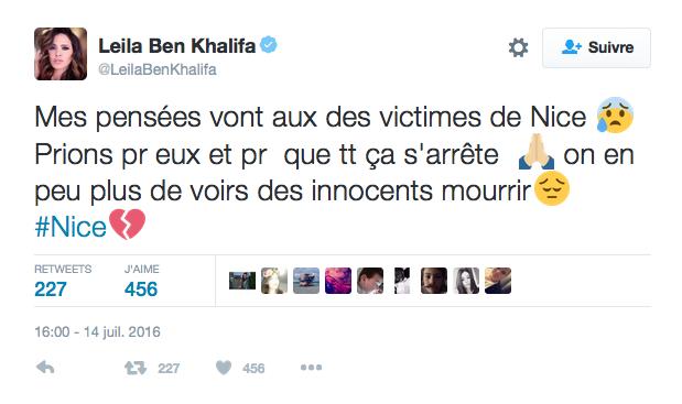 Le message de Leïla Ben Khalifa