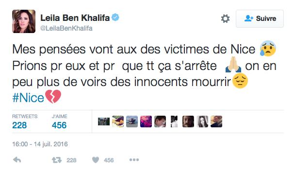 Le message de Leila Ben Khalifa