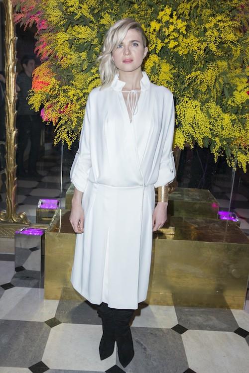 Cécile Cssel au Dîner de la mode, le 29 janvier 2015