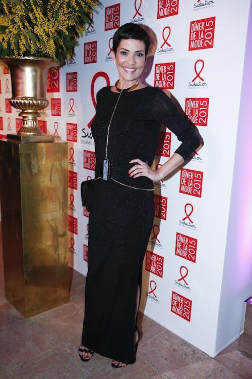 Cristina Cordula au dîner de la mode, le 29 janvier 2015
