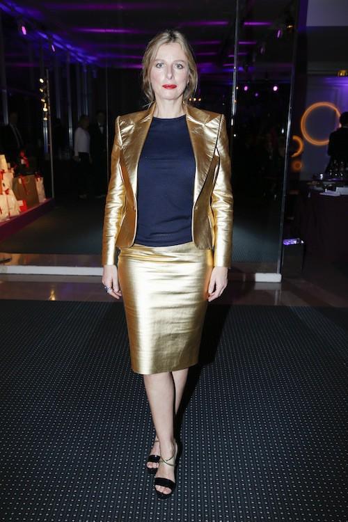 Karin Viard au dîner de la mode, le 29 janvier 2015