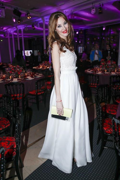 Mareva Galanter au dîner de la mode, le 29 janvier 2015