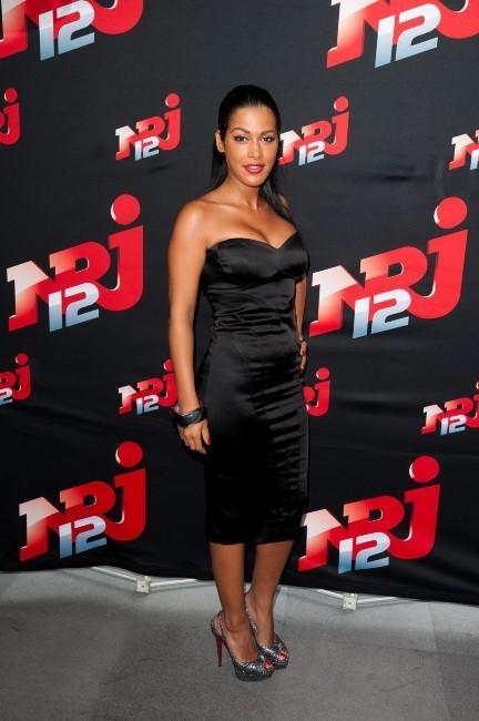 Ayem Nour lors de la conférence de presse NRJ 12, le 12 juillet 2012.