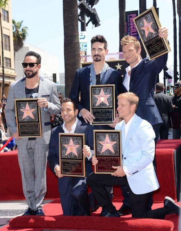 Les Backstreet Boys sur le Walk of Fame à Hollywood, le 22 avril 2013.