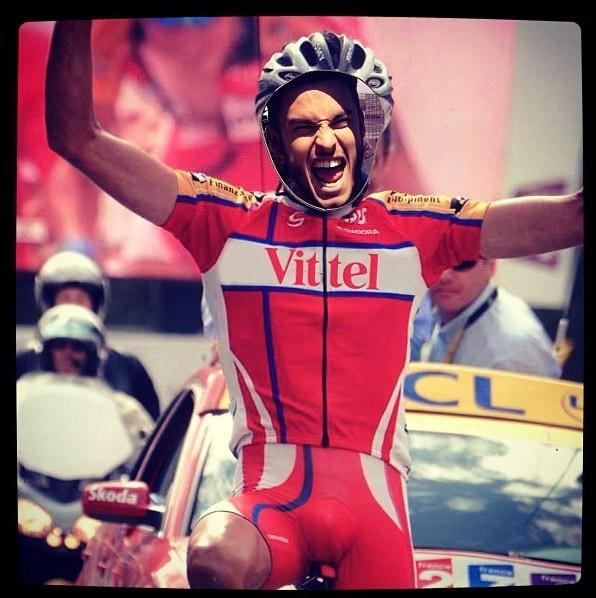 Baptiste Giabiconi à Bastia pour le Tour de France le 30 juin 2013