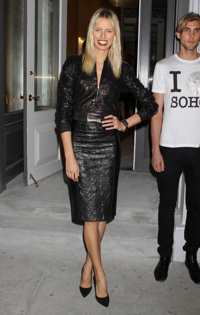 Karolina Kurkova lors de la soirée d'ouverture de la nouvelle boutique Versace à New York, le 24 octobre 2012.