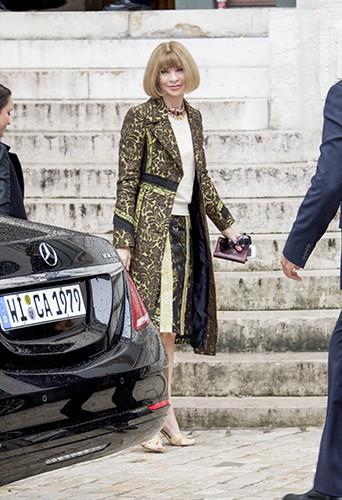 Anna Wintour à Paris le 29 septembre 2014