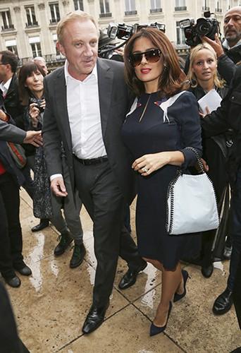 François-Henri Pinault et Salma Hayek à Paris le 29 septembre 2014