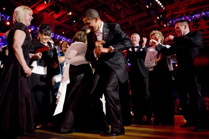 Barack Obama qui danse sur un plateau télé