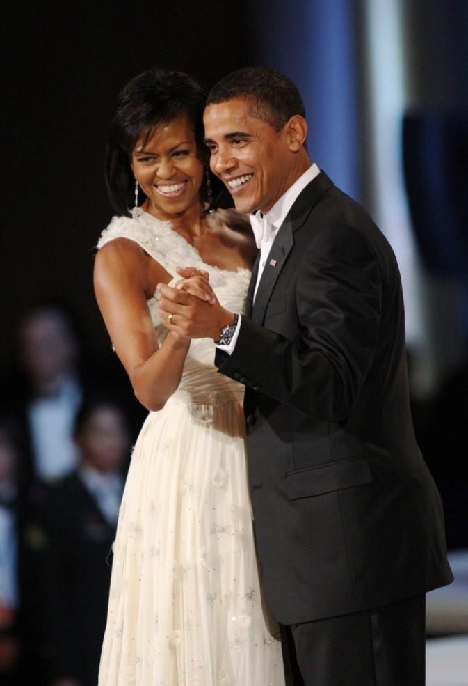 Michelle et Barack dansent