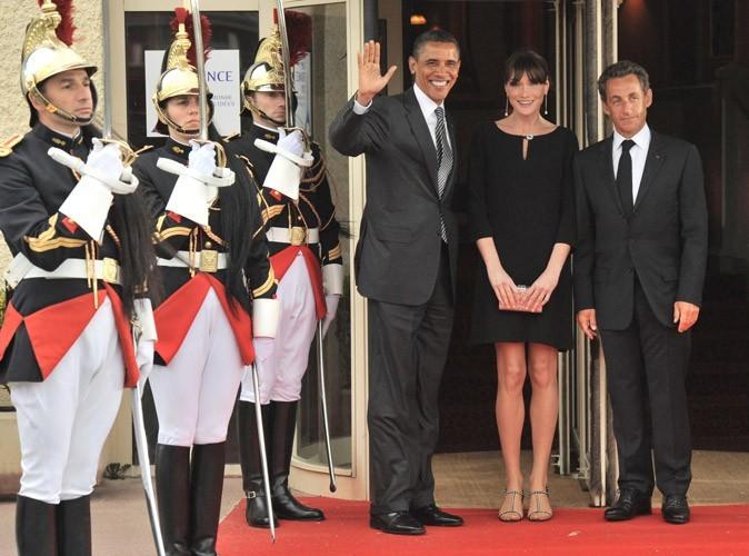 Barack Obama rencontre Nicolas Sarkozy et Carla Bruni-Sarkozy