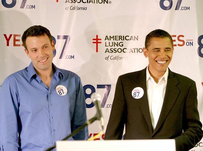 Comme beaucoup d'autres célébrités, Ben Affleck a soutenu la campagne d'Obama