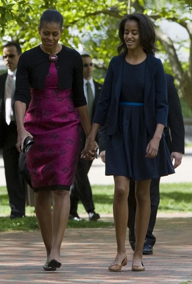Michelle et sa fille Malia en 2012