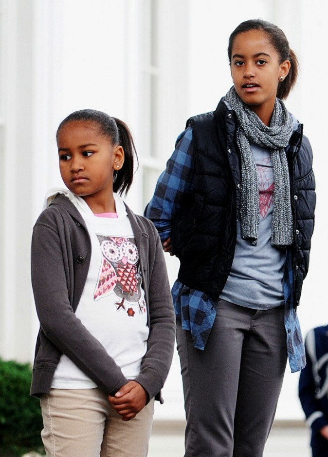 Sasha et Malia en 2009