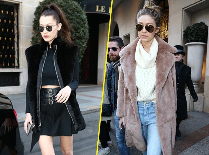 Photos : Bella et Gigi Hadid balade entre sisters à Paris