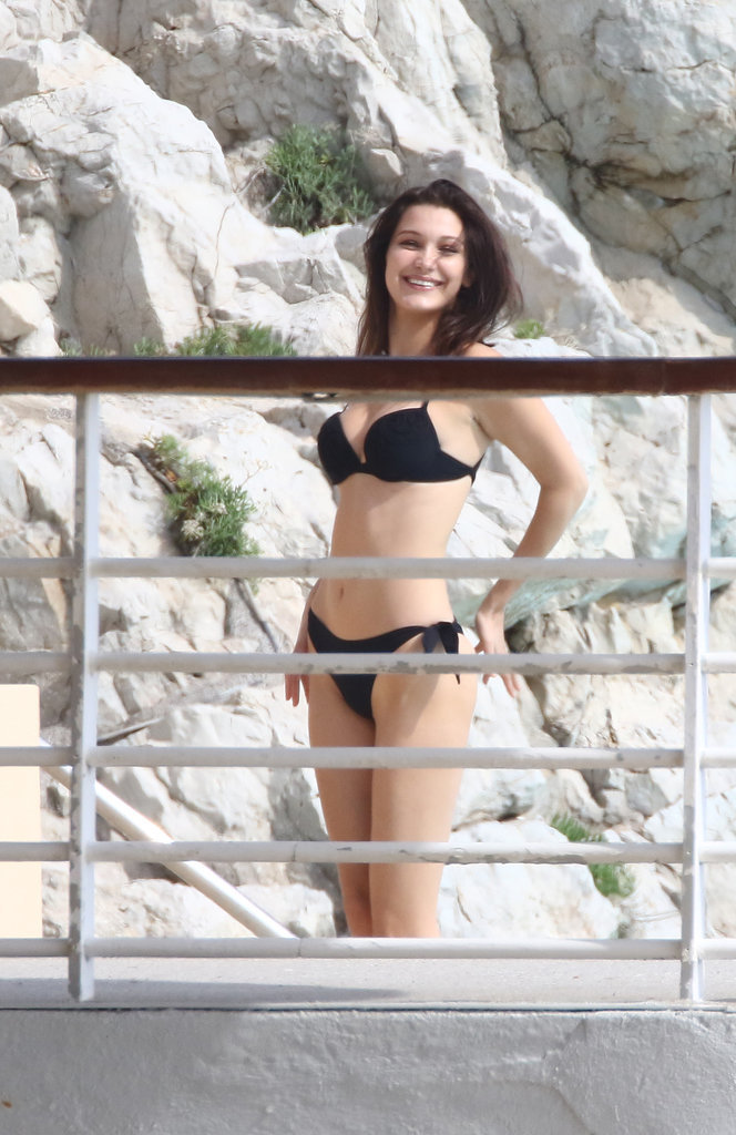 Bella Hadid : elle s'éclate avec un autre homme à Antibes ! (le 10/05/16)