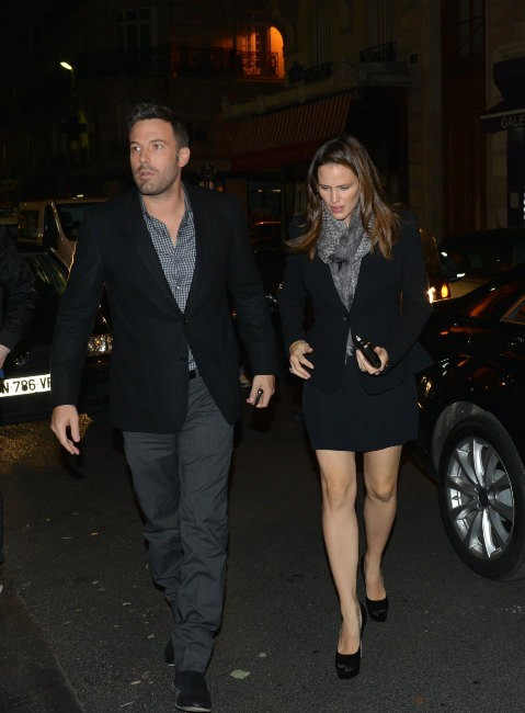 Jennifer Garner et Ben Affleck le 15 octobre 2012 à Paris