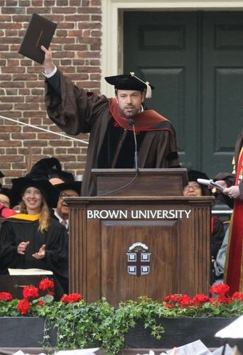 Ben Affleck, Université de Brown, 25 mai 2013