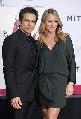 Ben Stiller et sa femme, Christine Taylor, à Los Angeles le 3 décembre 2013