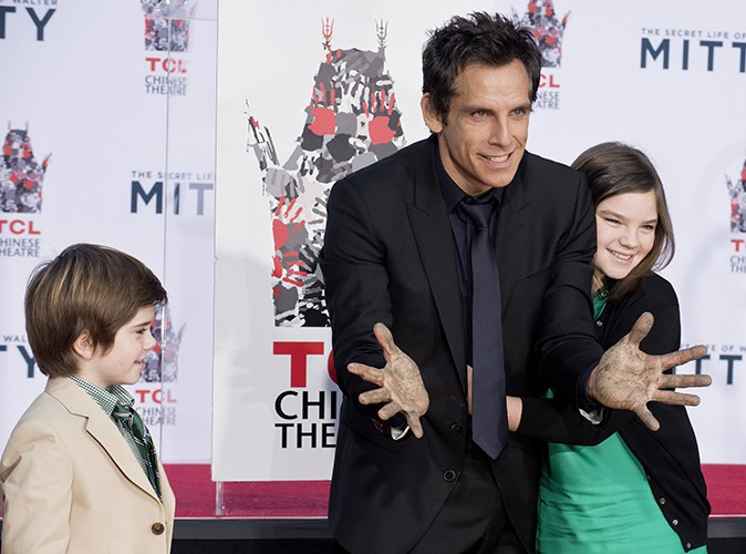 Ben Stiller et ses enfants, Quinlin et Ella, à Los Angeles le 3 décembre 2013