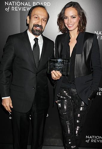 Asghar Farhadi et Bérénice Béjo à New-York le 7 janvier 2014