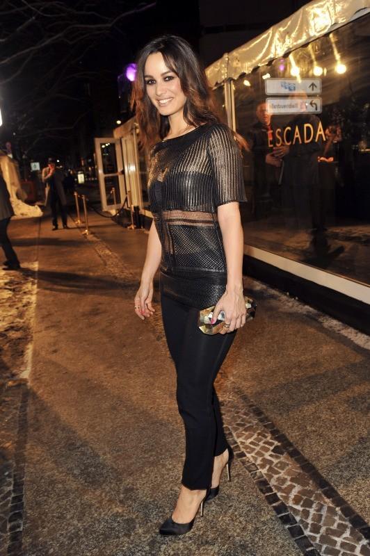 Bérénice Marlohe lors de la soirée Escada à Berlin, le 19 mars 2013.