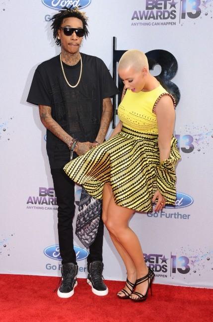 Amber Rose et Wiz Khalifa lors des BET Awards 2013 à Los Angeles, le 30 juin 2013.
