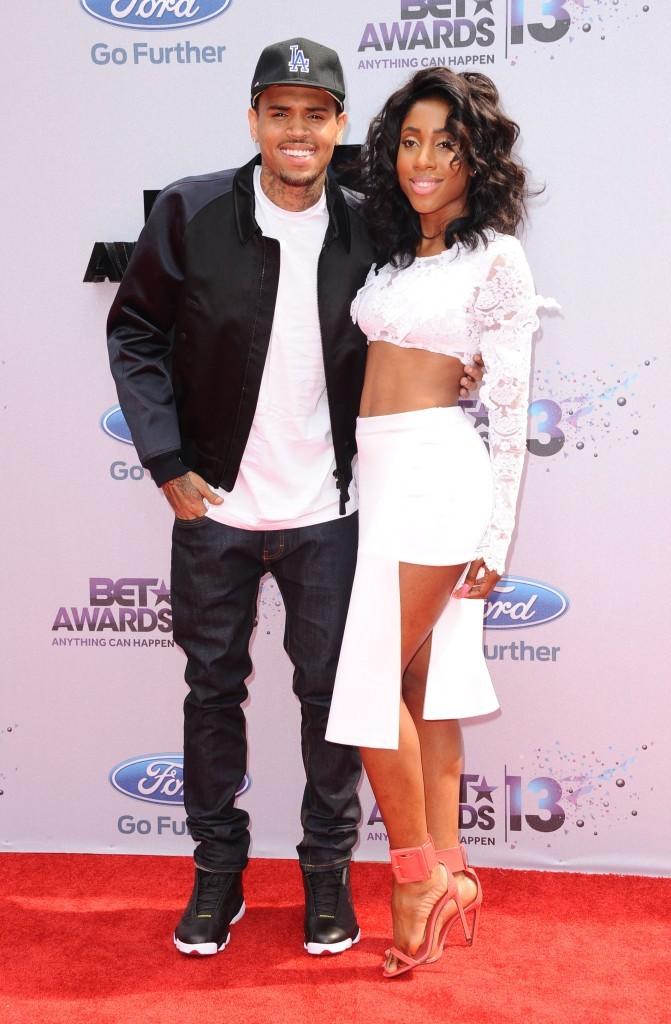 Chris Brown et Sevyn Streeter lors des BET Awards 2013 à Los Angeles, le 30 juin 2013.